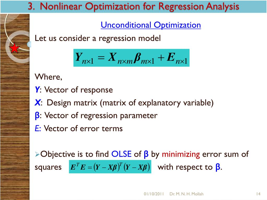 3.  Nonlinear Optimization for