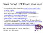 news report ks2 lesson resources