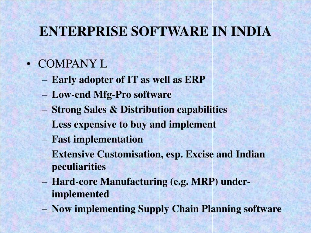 ENTERPRISE SOFTWARE IN INDIA