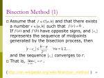 bisection method 1