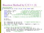 bisection method by c c 1