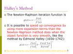 halley s method