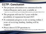 cctp conclusion