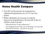home health compare