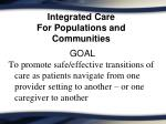 integrated care for populations and communities