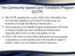 the community based care transitions program cctp