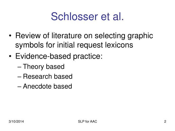 Schlosser et al