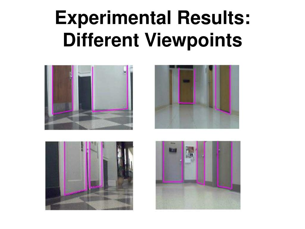 Experimental Results: Different Viewpoints