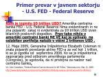 primer prevar v javnem sektorju u s fed federal reserve