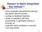 revizor in na rt integritete kaj vsebuje