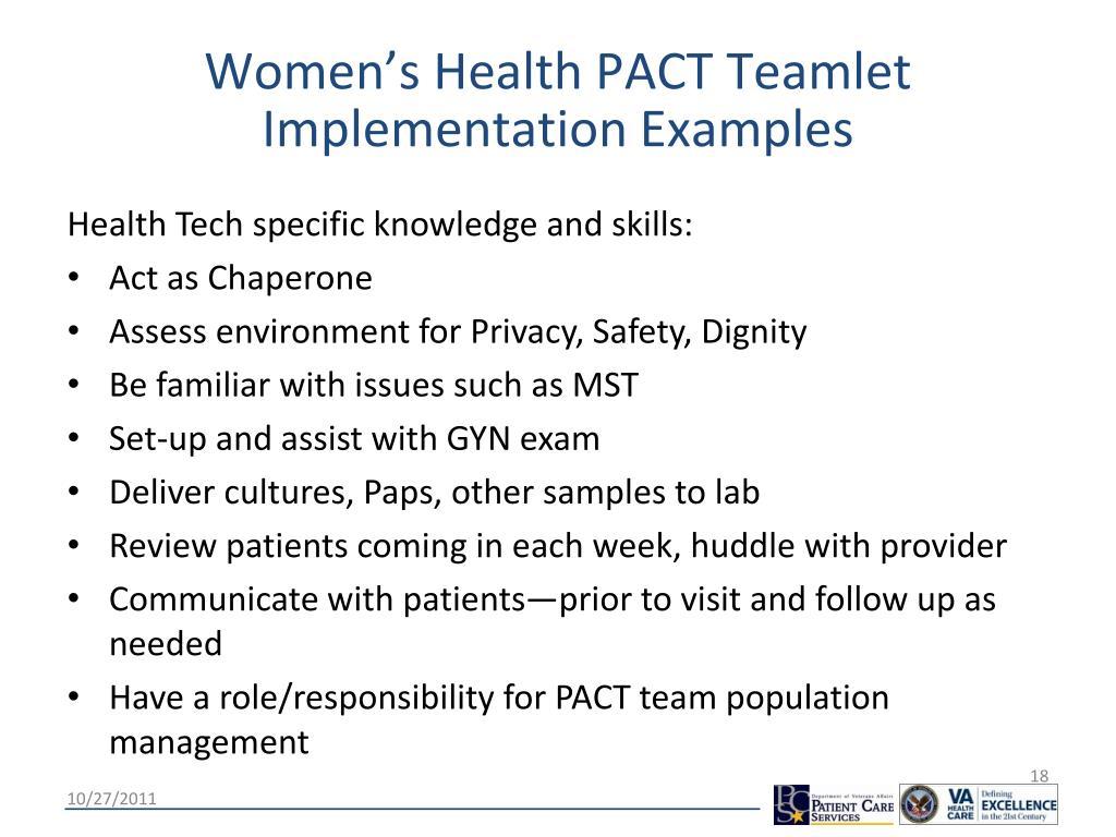 Women's Health PACT