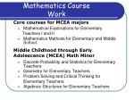mathematics course work