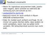 feedback erw nscht