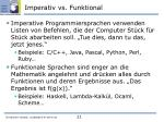 imperativ vs funktional