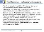 von maschinen zu programmiersprache