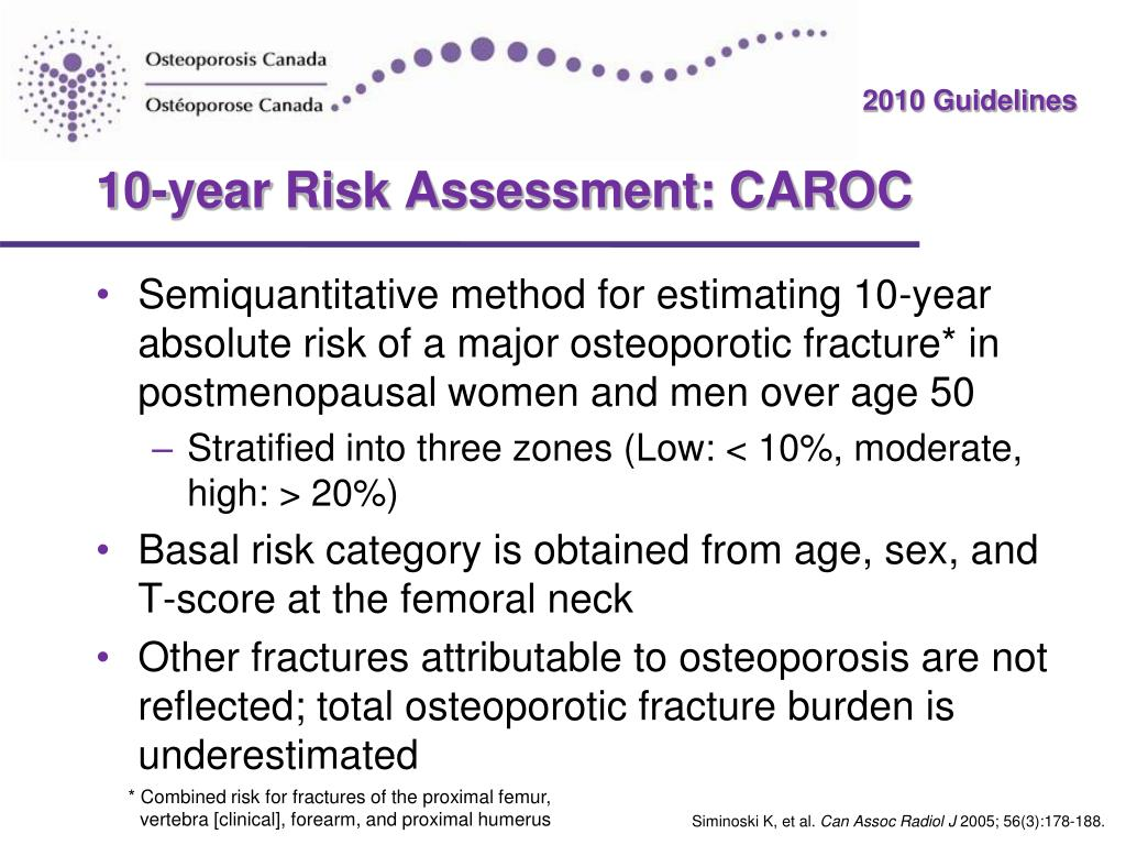 10-year Risk Assessment: CAROC