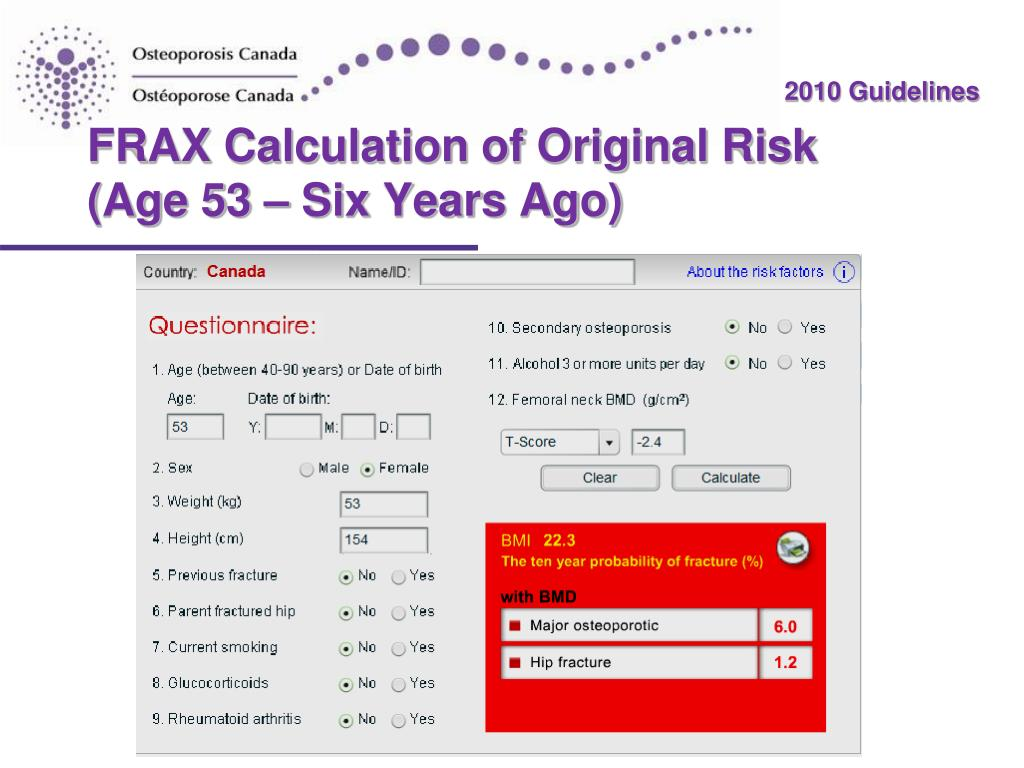 FRAX Calculation of Original Risk