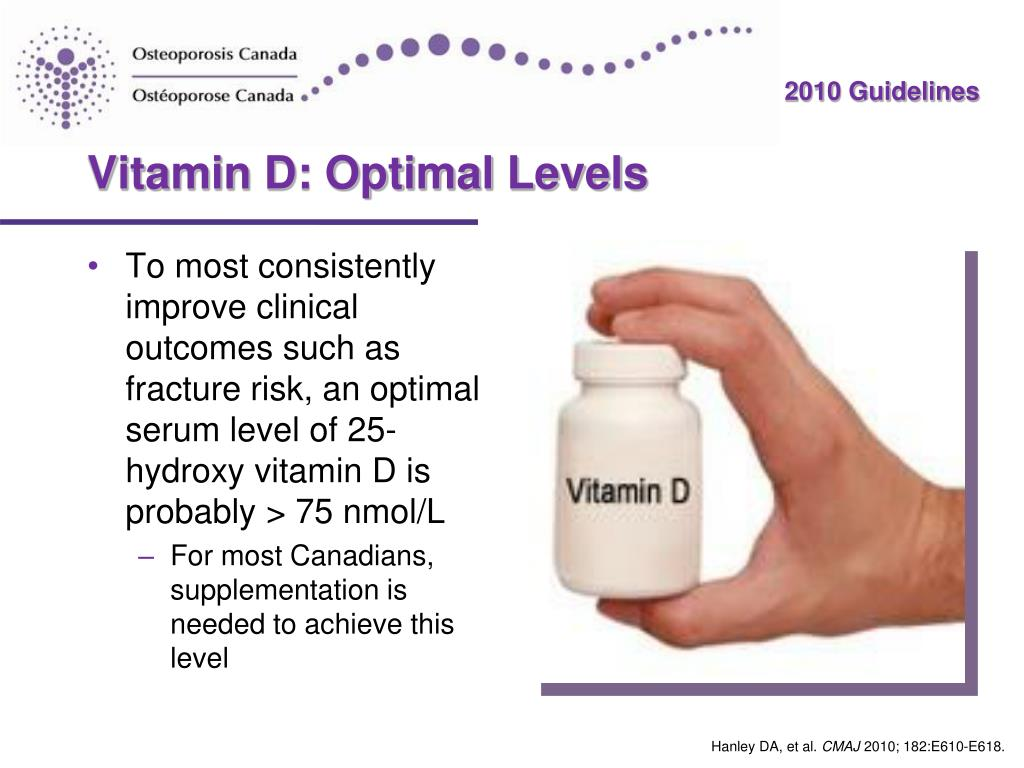 Vitamin D: Optimal Levels