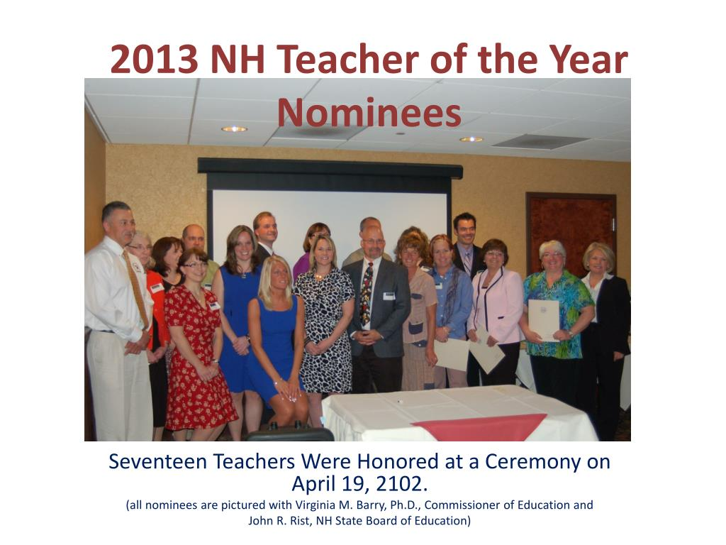 2013 nh teacher of the year nominees l.
