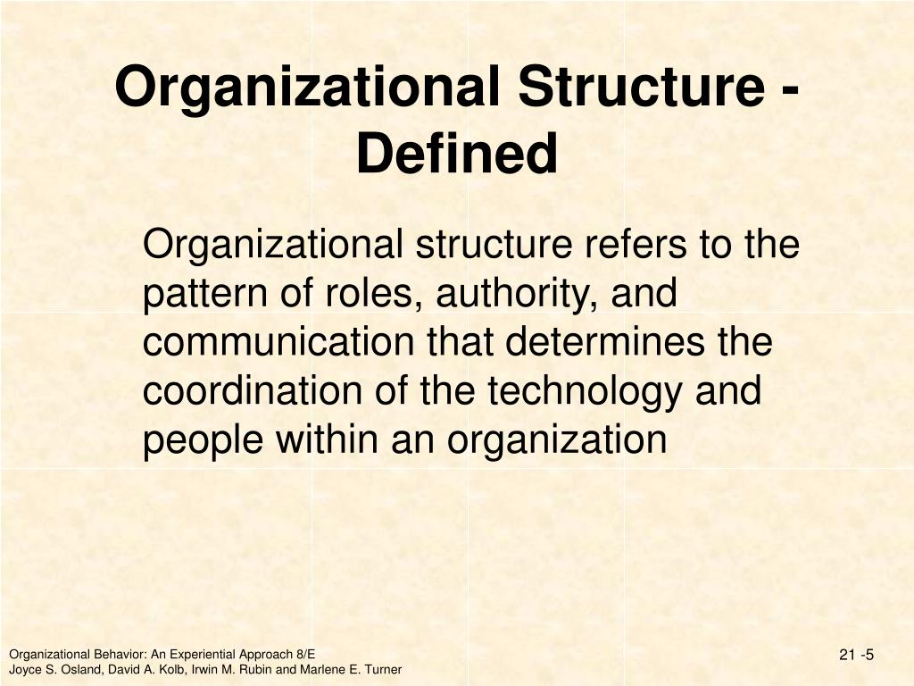 Organizational Structure - Defined
