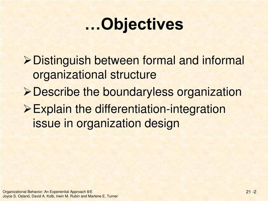 …Objectives