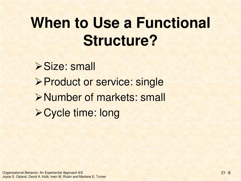 When to Use a Functional Structure?