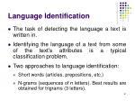 language identification