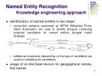 named entity recognition knowledge engineering approach
