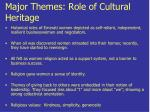 major themes role of cultural heritage