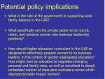 potential policy implications