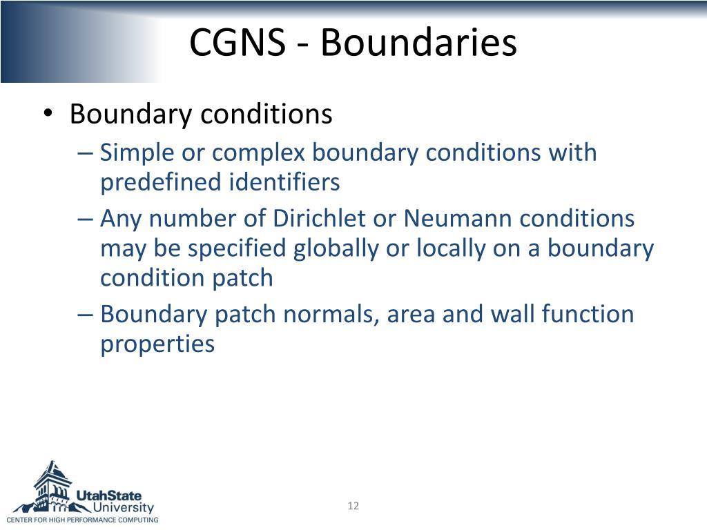 CGNS - Boundaries