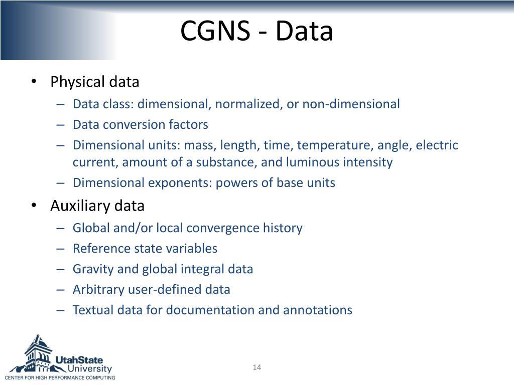 CGNS - Data