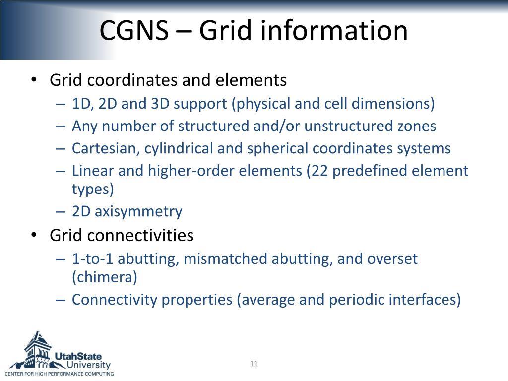 CGNS – Grid information