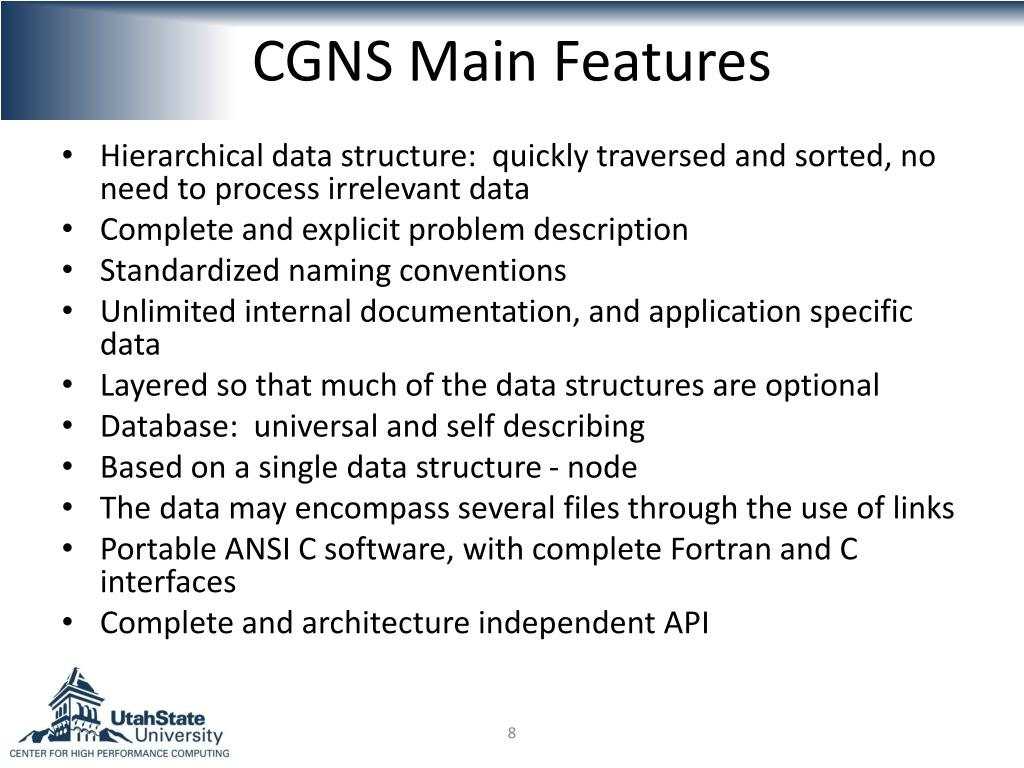 CGNS Main Features