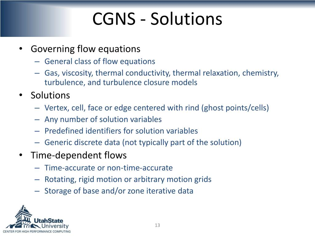 CGNS - Solutions