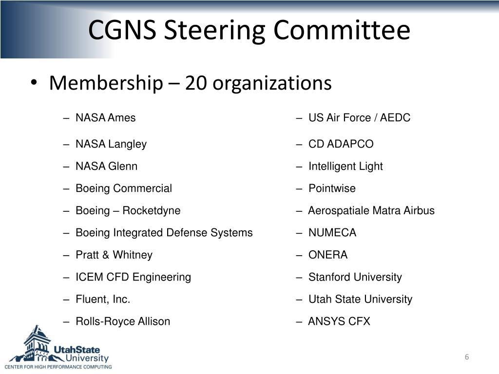 CGNS Steering Committee