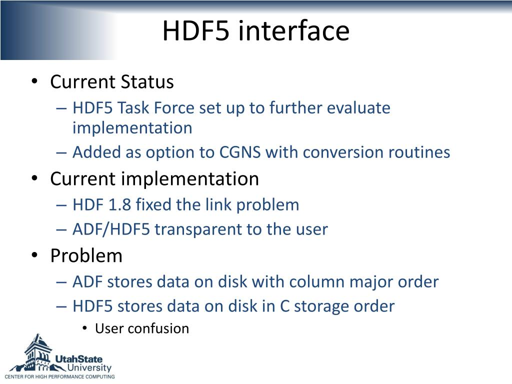 HDF5 interface