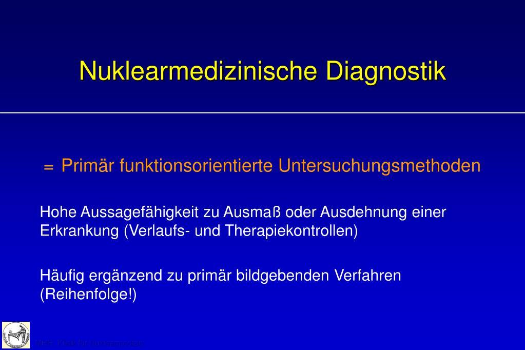 nuklearmedizinische diagnostik l.
