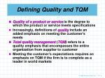 defining quality and tqm