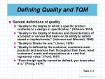 defining quality and tqm6