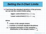 setting the x chart limits