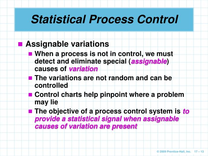assignable causes of variation