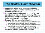 the central limit theorem17
