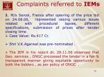 complaints referred to iems22