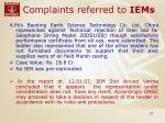 complaints referred to iems23