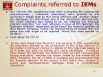 complaints referred to iems24