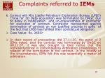 complaints referred to iems25