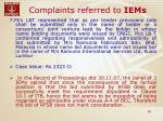 complaints referred to iems26