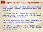 improvements in i p implementation