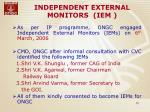 independent external monitors iem